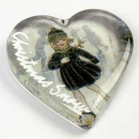 Gedecoreerd glazen hart