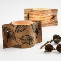 Kandelaars met natuurlijke materialen