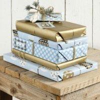 Cadeaus in blauw en goud