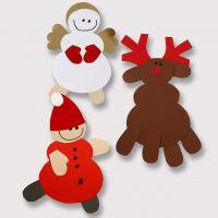 Rendieren en andere kerstfiguren van karton