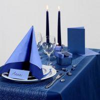 Party Inspiratie met blauwe tafeldecoraties