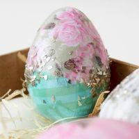 Eieren gedecoreerd met Skagen decoupage papier