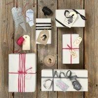 Verschillende labels voor geschenken