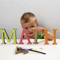 Gedecoreerde houten letters