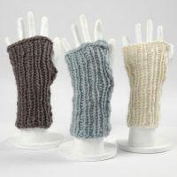 Open vinger handschoenen van wol