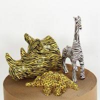 Papier-maché dieren met decoupage