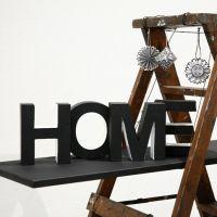 'Home' – geverfde papier-maché letters