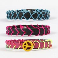 Leather Strap Bracelets decorated with Stitching