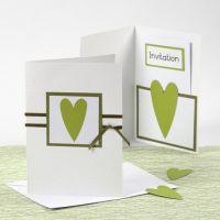 Lime Green Happy Moments uitnodiging en menukaart