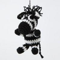 Een gehaakte zebra van katoengaren