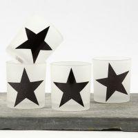 Kandelaars met sterren gemaakt van Design Paper