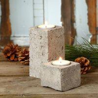 theelicht kaarsenhouders gegoten van beton