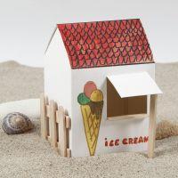 Een zelfgemaakte ijswinkel