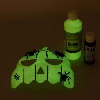 Masker geverfd met lichtgevende verf