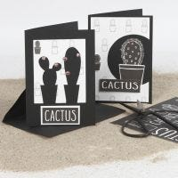 Wenskaarten gedecoreerd met cactussen en designpapier
