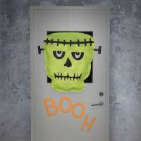 Frankenstein's monster gemaakt van imitatiestof