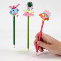 Een potlood met Silk Clay decoratie