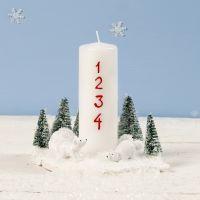 Kerstdecoratie voor advent met ijsberen