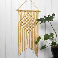 Geknoopt wandkleed van Cotton Tube Yarn
