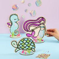 Schildpad, zeemeermin en zeepaardje met Foam Clay