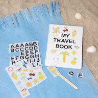 Notitieboek gedecoreerd met rub-on stickers