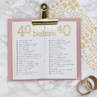Bucket List voor  Bullet Journal en Planner