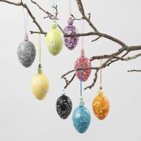 Plastic eieren met terrazzo look