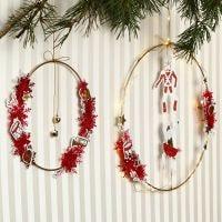 Metalen ring met bellen en Vivi Gade kerstdecoraties