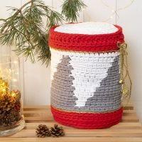 Een gehaakte trommel van textielgaren