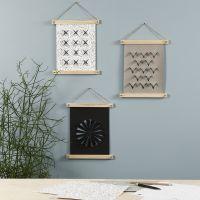 Faux Leather muurdecoratie gedecoreerd met pyrografie gereedschap