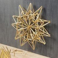 Grote ster van stro