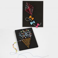 3D afbeeldingen met String Art