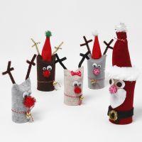 Kerstdecoraties van gerecyclede kartonnen kokers