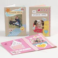 Maak een boek van karton en papier