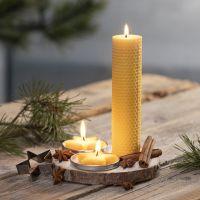 Zelfgemaakte kaarsen van natuurlijke bijenwas