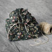 Herbruikbare geschenkverpakking van patchworkstof