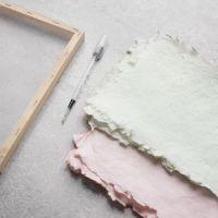 How to make handmade paper dyed with art aqua liquid watercolour