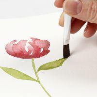 Hoe vloeiende penseelstreken te schilderen met aquarelverf