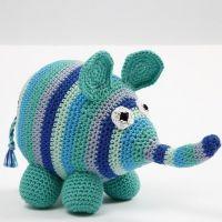 Een gehaakte olifant